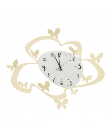 orologio farfalle colore avorio
