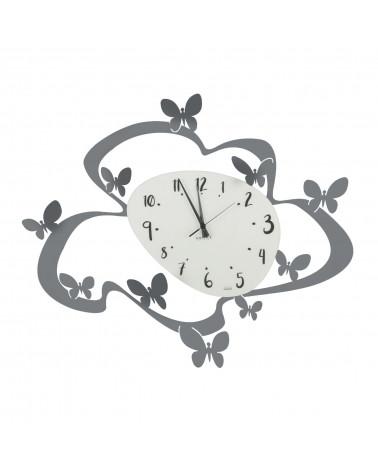 orologio farfalle colore ghisa