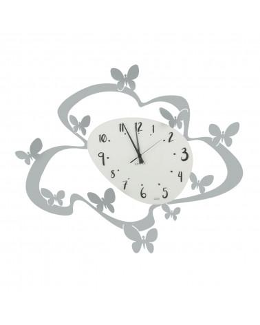 orologio farfalle colore argento