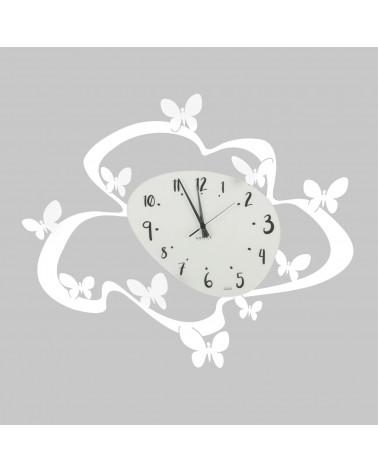 orologio farfalle colore bianco