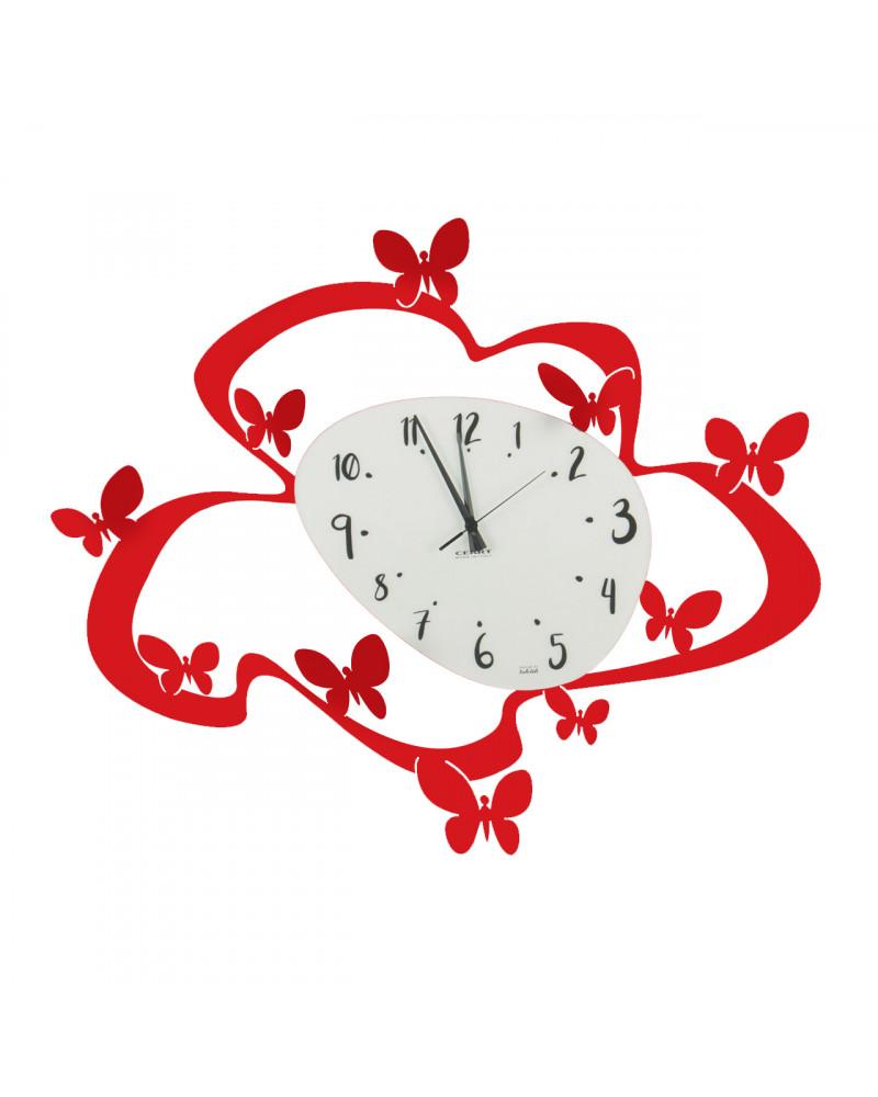 orologio farfalle colore rosso