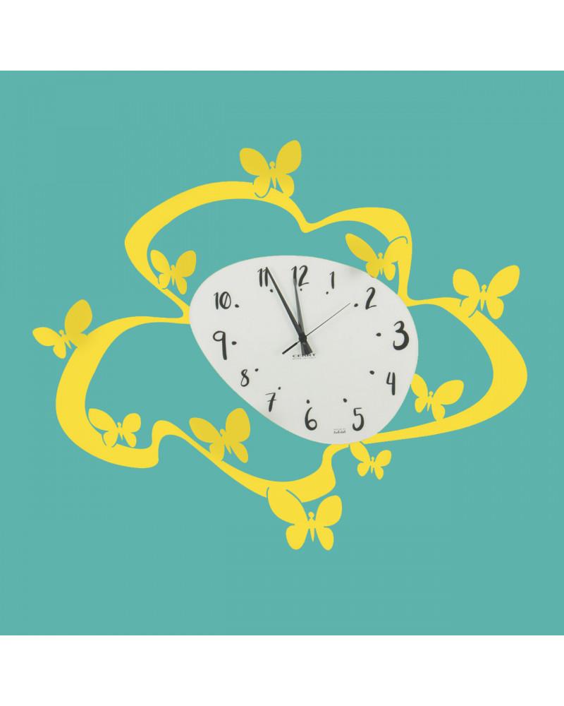 orologio farfalle colore giallo