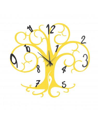 orologio da parete albero della vita colore giallo