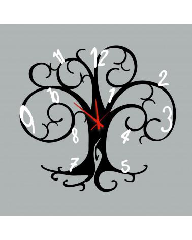orologio da parete albero della vita colore nero