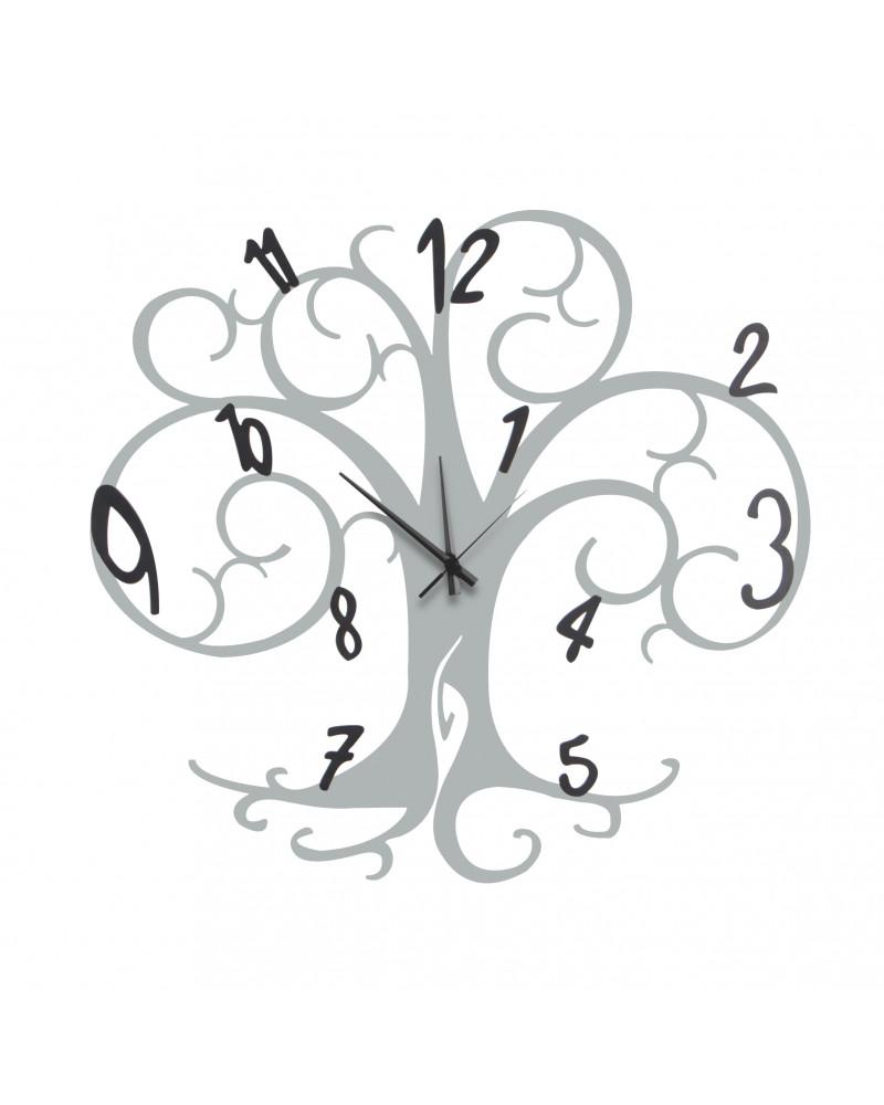 orologio da parete albero della vita colore argento