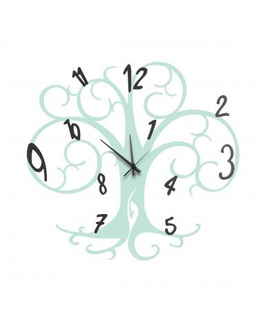 orologio da parete albero della vita colore tiffany