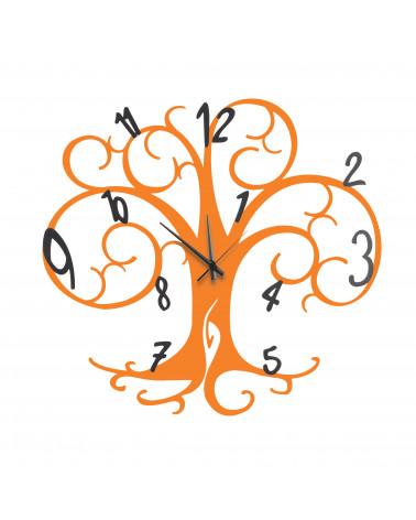 orologio da parete albero della vita colore arancio