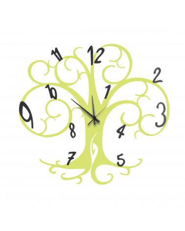 orologio da parete albero della vita colore verde mela