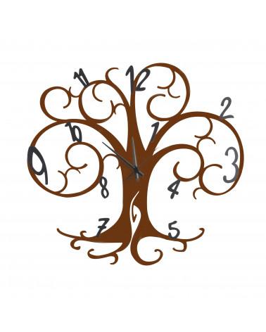 orologio da parete albero della vita colore corten
