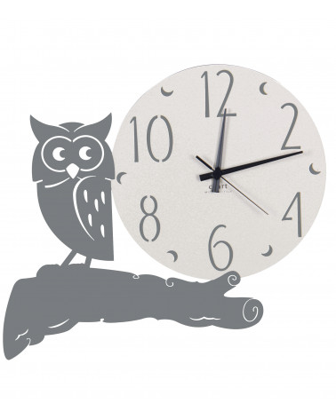 orologio parete moderno gufo colore ghisa
