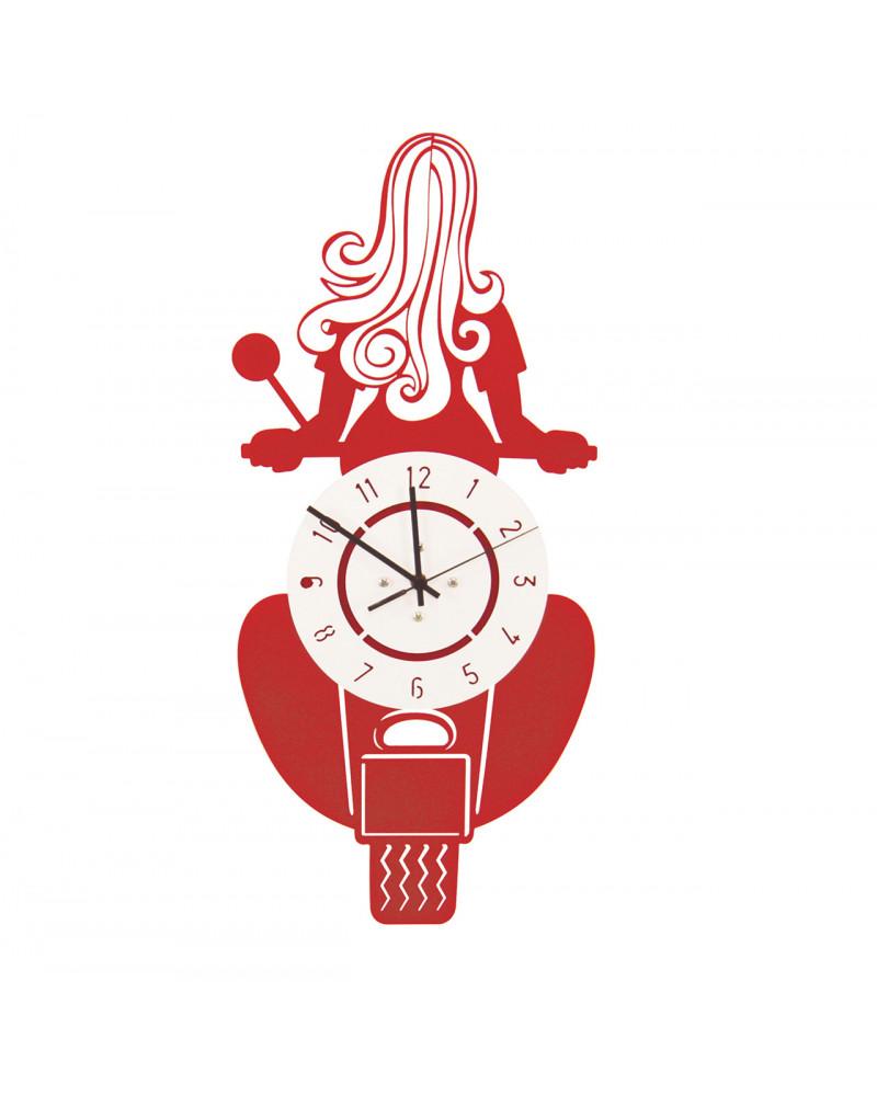 orologio da parete particolare vespa colore rosso