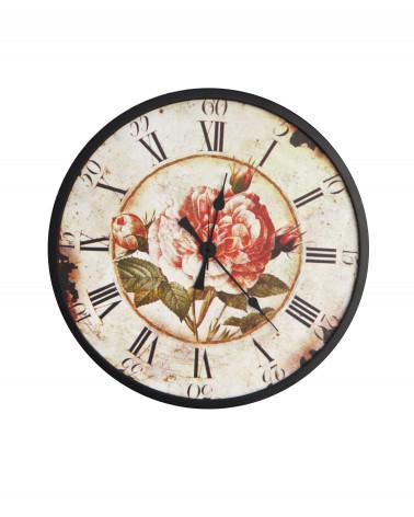 Orologio da parete vintage Peonia rotondo diametro 40 cm