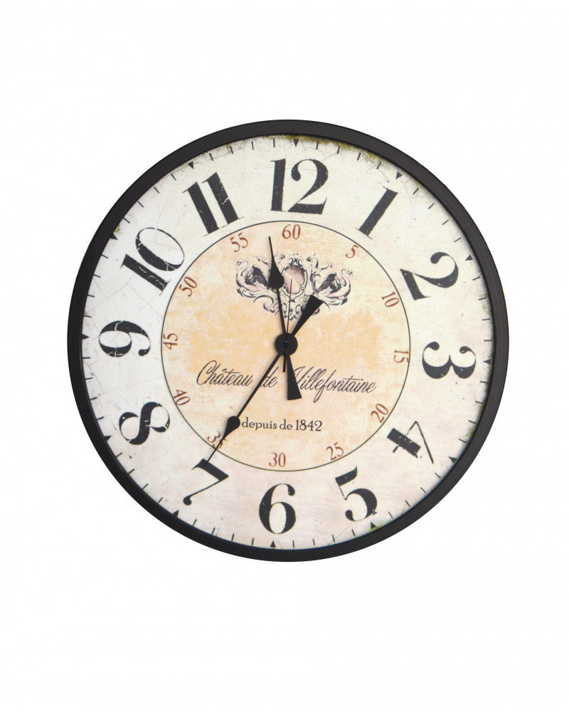 orologio da parete vintage 60 cm Chateau de Villefo