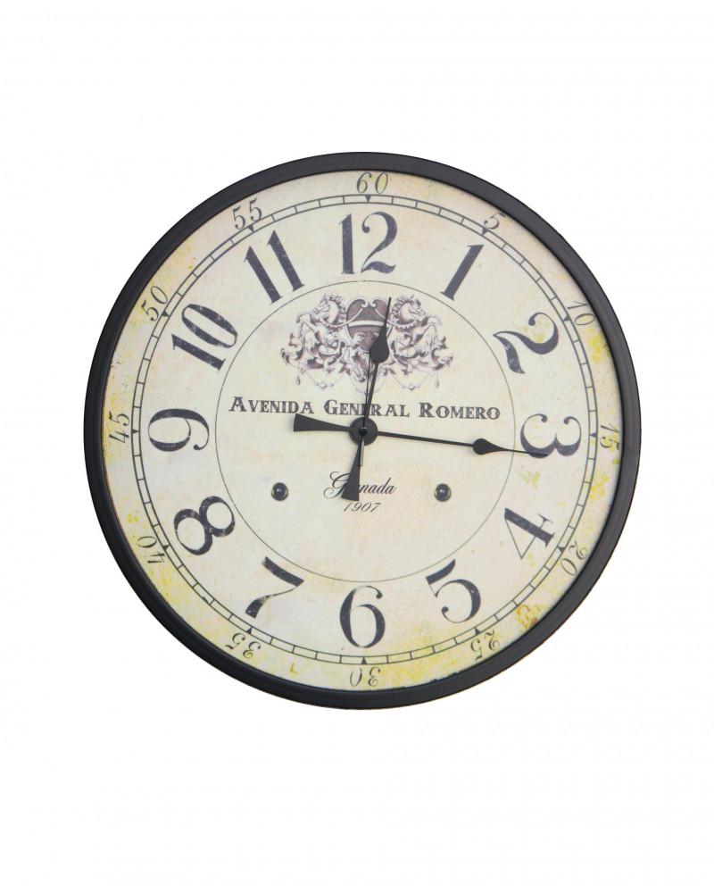 orologio da parete vintage scritta Avenida General Romero