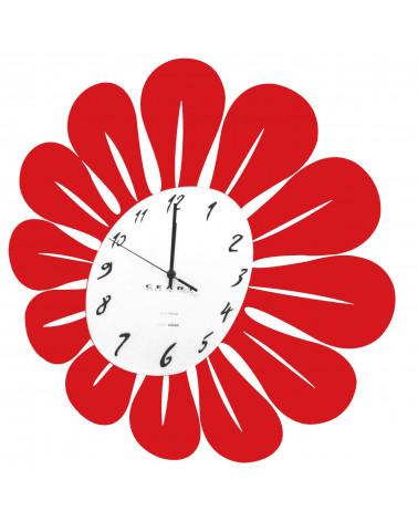orologio da parete particolare primula colore rosso