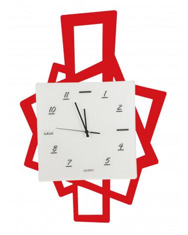Orologio da parete moderno Quadri in metallo colore rosso
