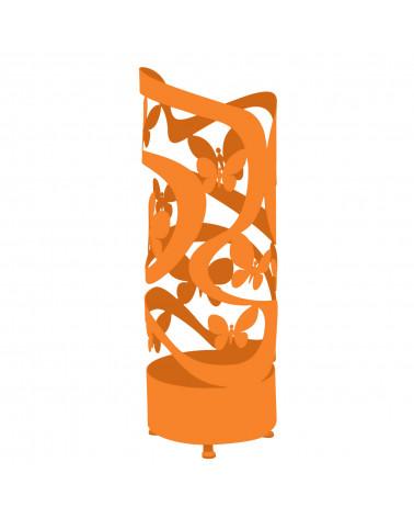 portaombrelli design farfalle colore arancio