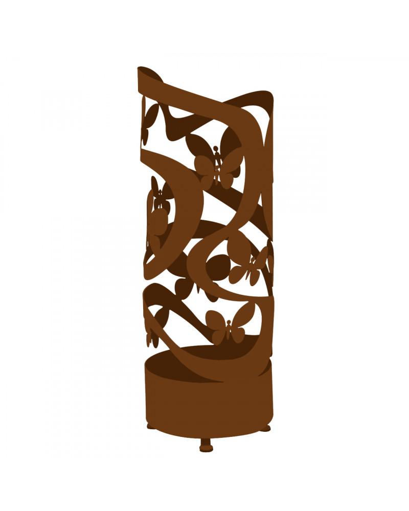 portaombrelli design farfalle colore corten