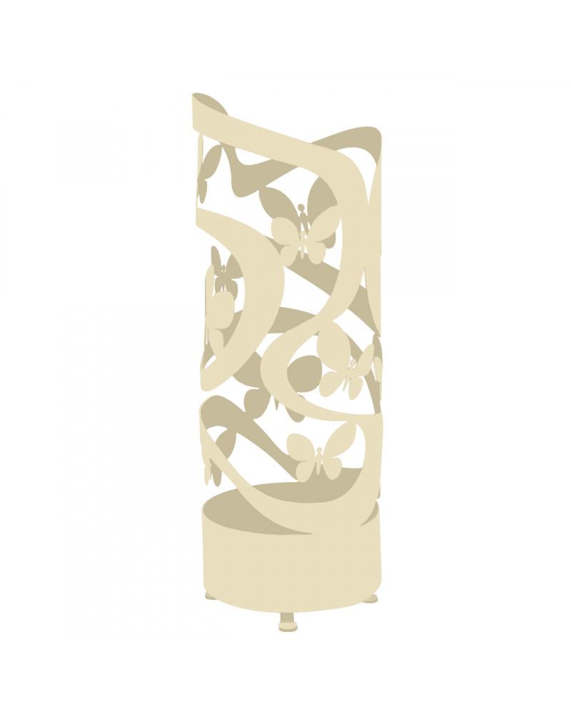 portaombrelli design farfalle colore avorio