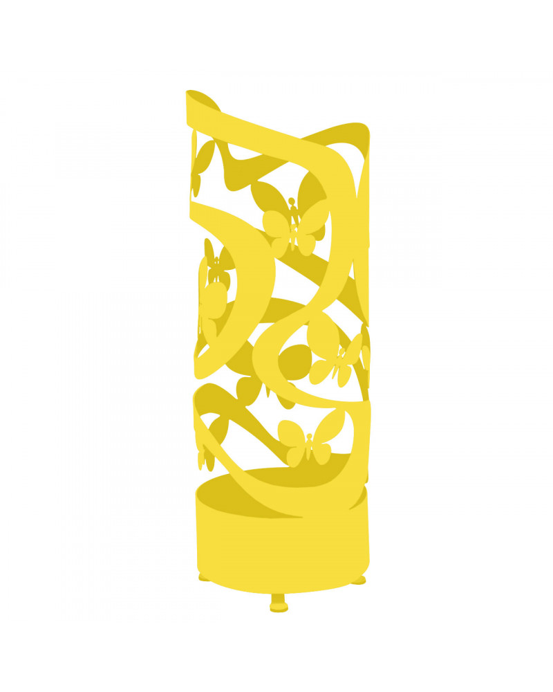 portaombrelli design farfalle colore giallo