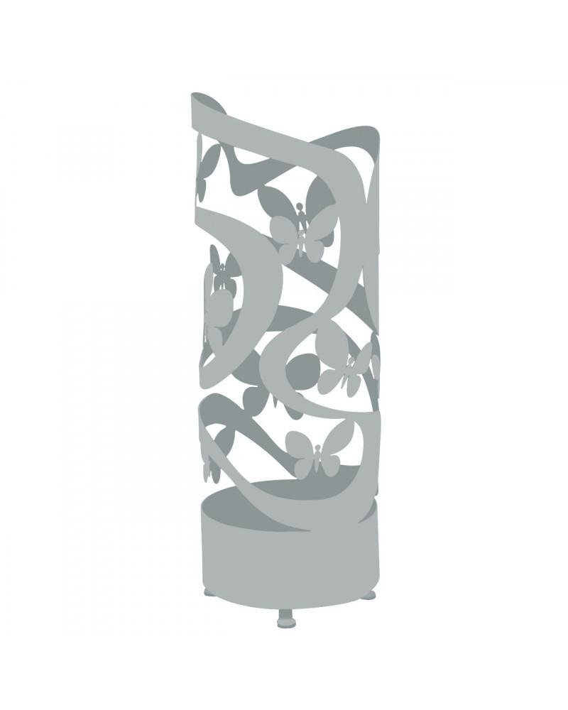 portaombrelli design farfalle colore argento