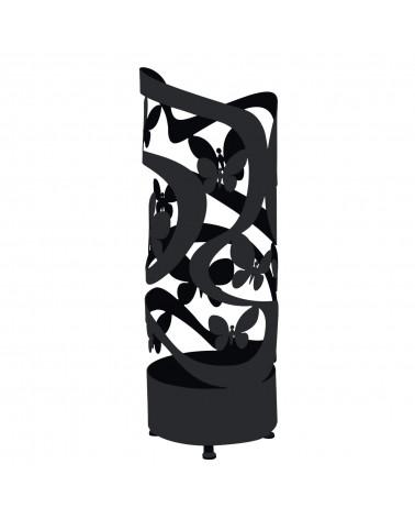 portaombrelli design farfalle colore nero