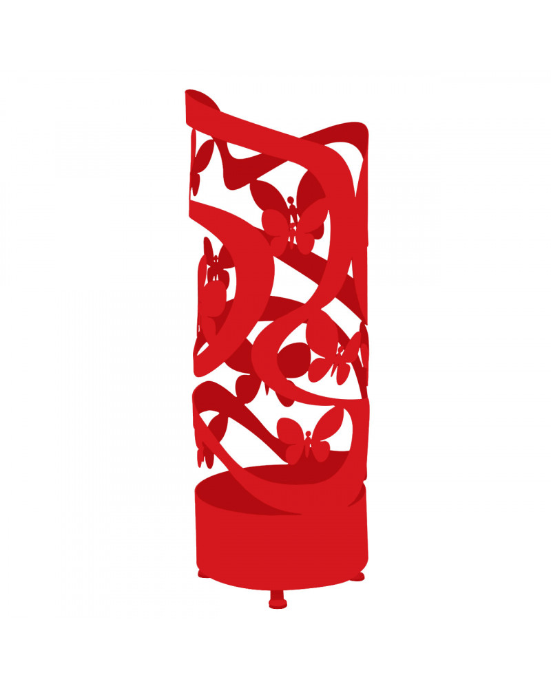 portaombrelli design farfalle colore rosso