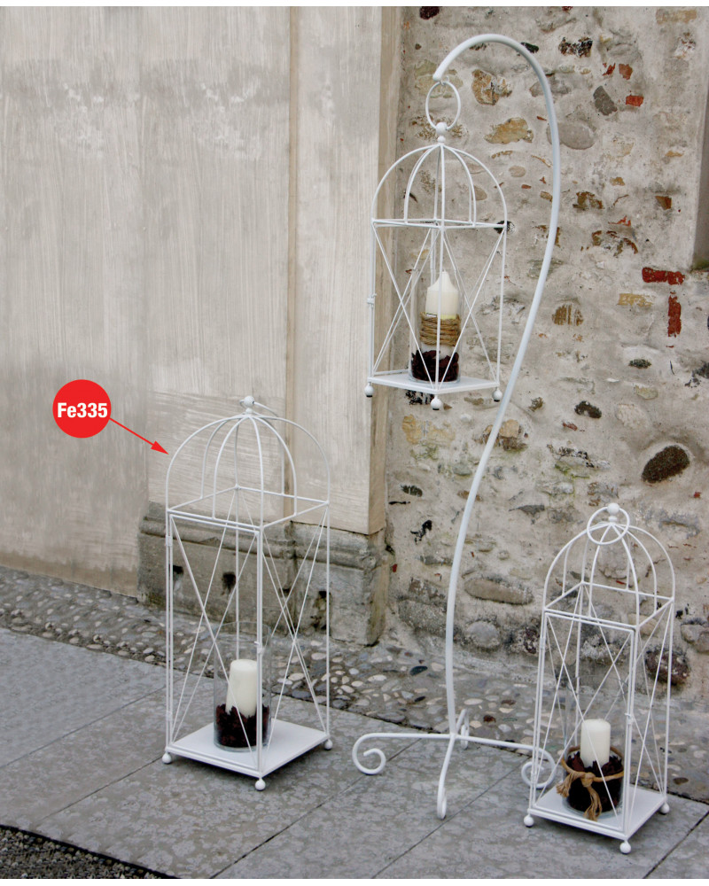 lanterna in ferro altezza 98 cm