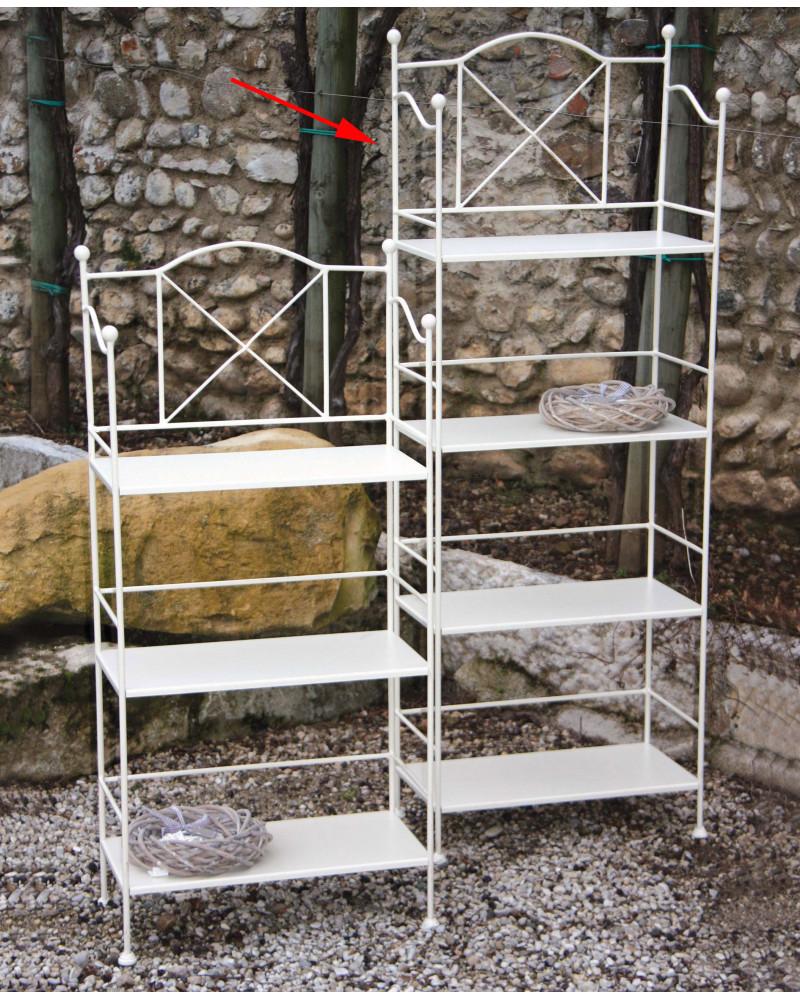 Etagere ferro battuto con 4 ripiani in ferro altezza 147 cm