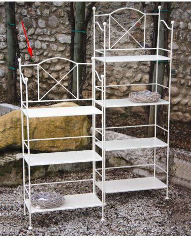 Etagere ferro battuto con 3 piani in ferro altezza 114 cm colore bianco