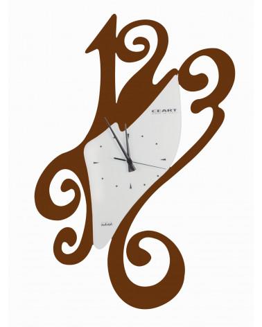 Orologio da parete particolare Sissi colore corten