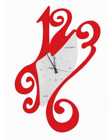 Orologio da parete particolare Sissi colore rosso