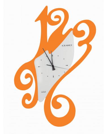 Orologio da parete particolare Sissi colore arancio