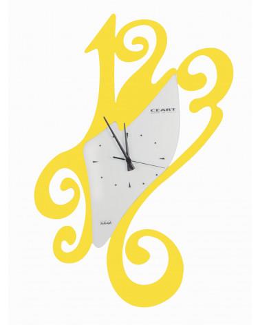 Orologio da parete particolare Sissi colore giallo
