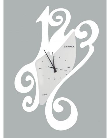 Orologio da parete particolare Sissi colore bianco