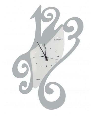 Orologio da parete particolare Sissi colore argento