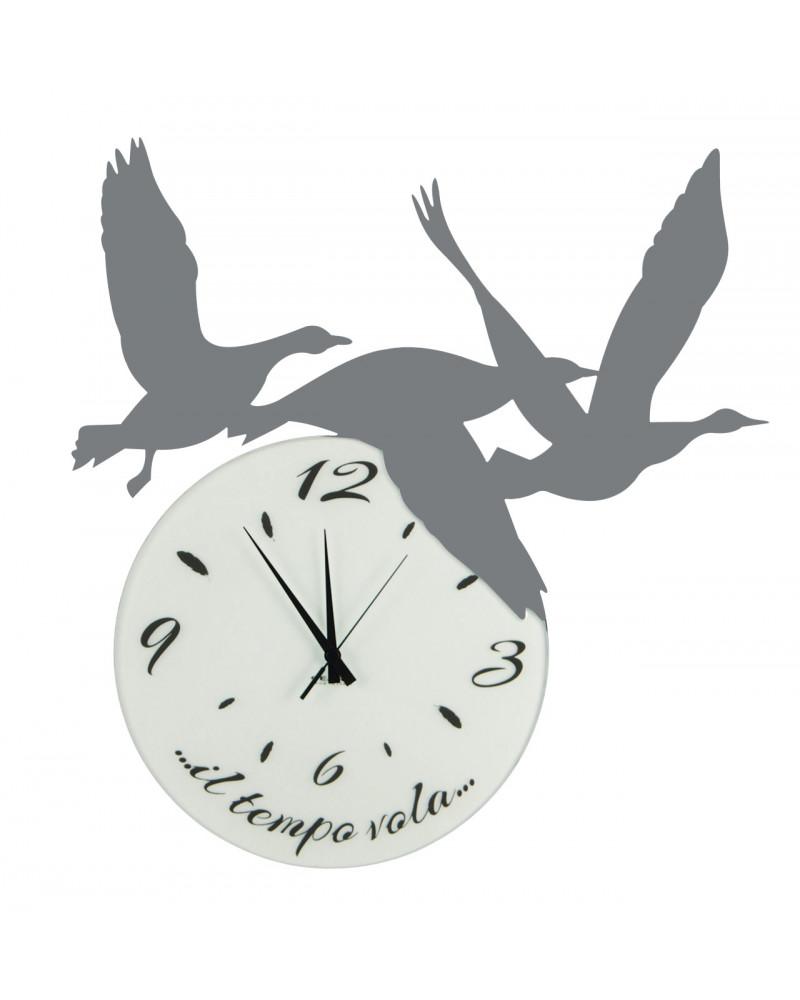 orologio di parete particolare Volare colore ghisa