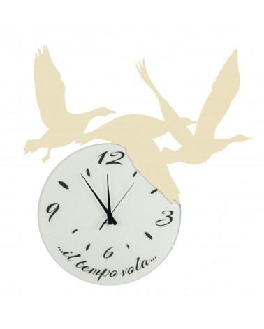 orologio di parete particolare Volare colore avorio