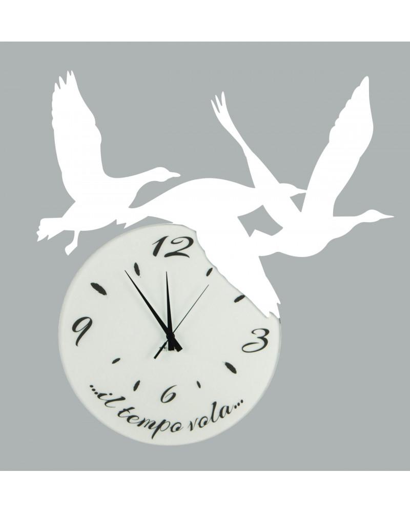 orologio di parete particolare Volare colore bianco