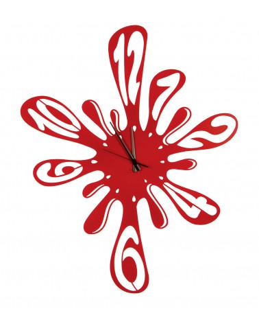 Orologio da parete particolare Schizzo colore rosso