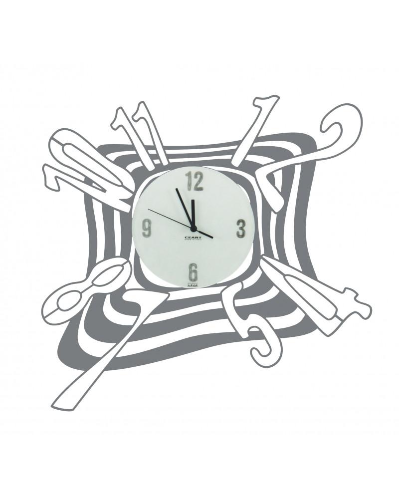 Orologio da parete particolare Scirocco colore ghisa