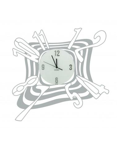 Orologio da parete particolare Scirocco colore argento
