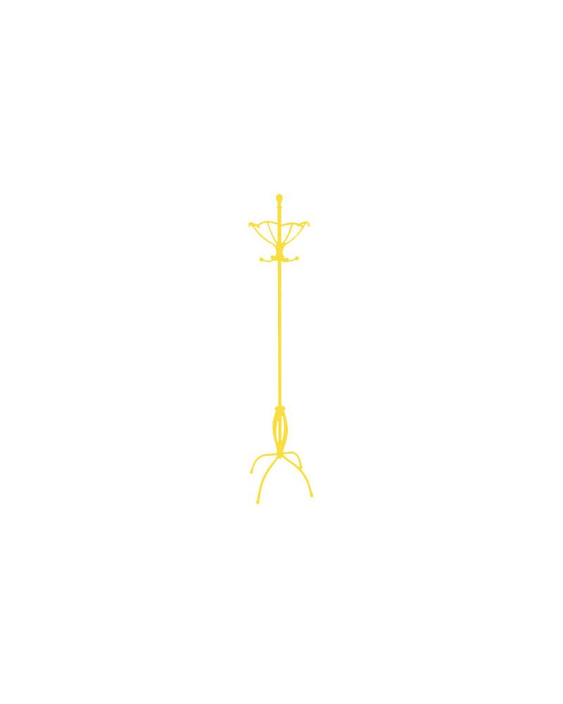 Appendiabiti da terra in ferro battuto altezza 188 cm colore giallo
