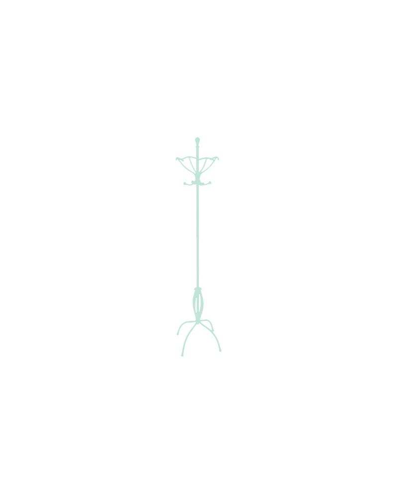 Appendiabiti da terra in ferro battuto altezza 188 cm colore tiffany