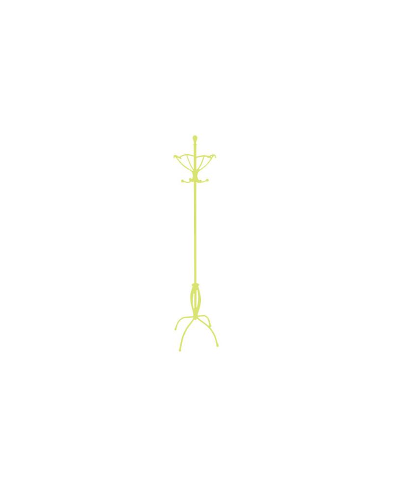 Appendiabiti da terra in ferro battuto altezza 188 cm colore verde