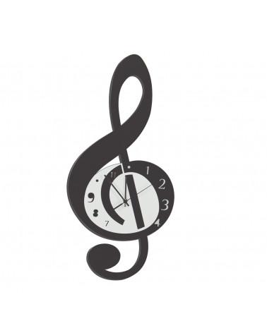 orologio da parete Violino forma di nota musicale colore nero
