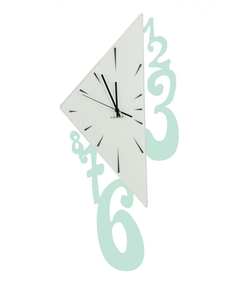 Orologio da parete Triangolo colore tiffany