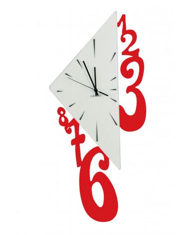 Orologio da parete Triangolo colore rosso