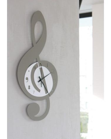 orologio da parete Violino forma di nota musicale colore tortora