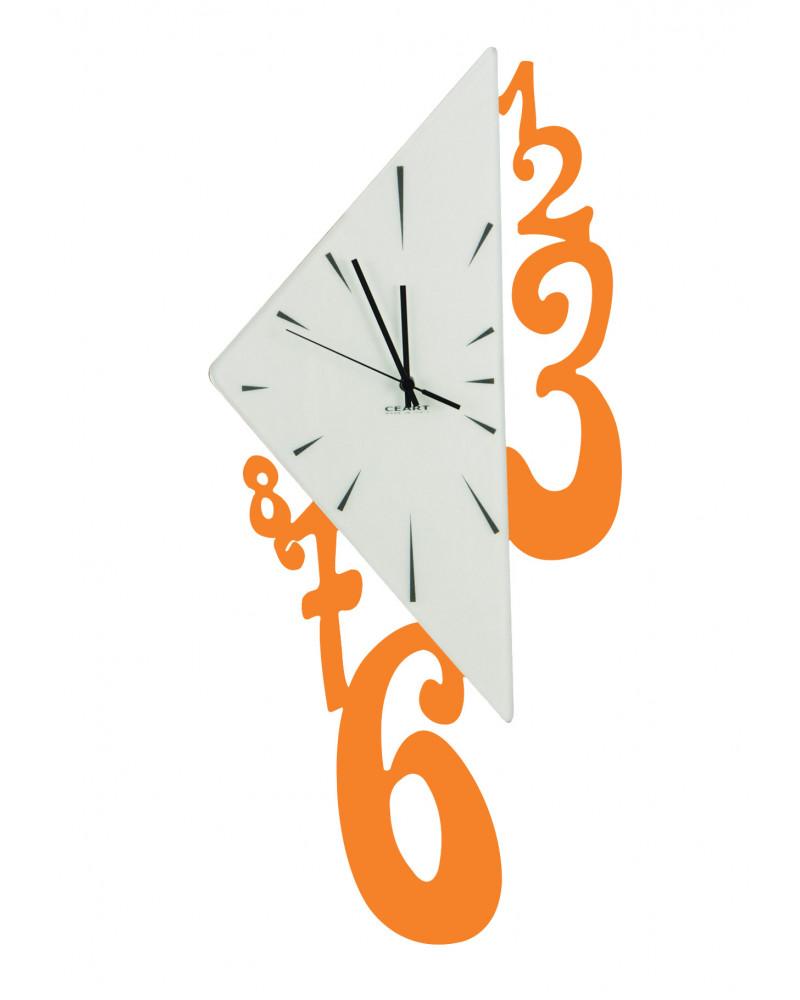 Orologio da parete Triangolo colore arancio